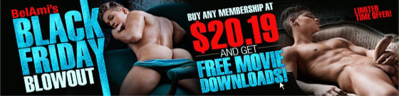 BelAmi Black Friday Sale! From producer of the best gay porn site ever - BelAmiOnline and FreshMen!